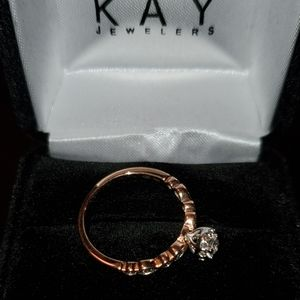 Kay jewelers rose gold 10k engagement ring